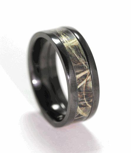 flat profile black camo ring