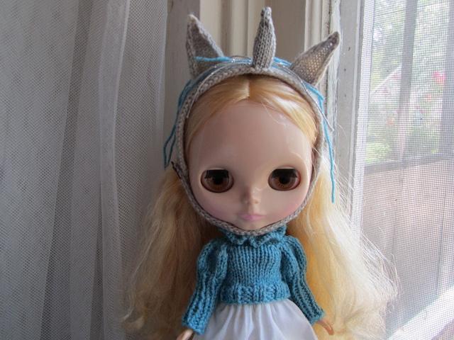 Crochet Unicorn Headband : Unicorn Headband for Blythe pattern by Natalie Scrimshire