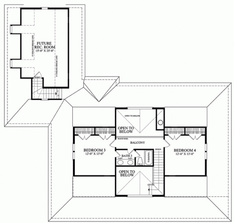 calabash cottage second floor houseplans pinterest