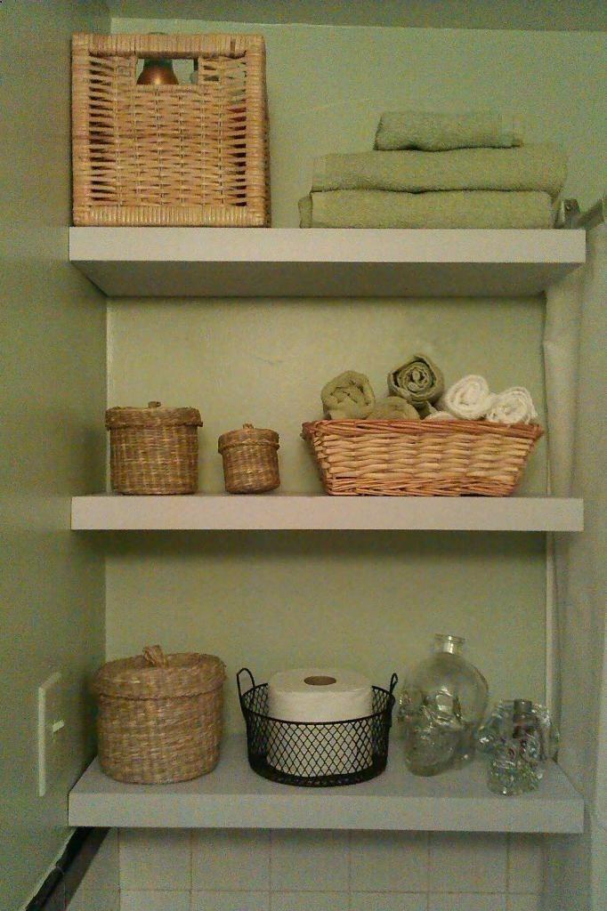 small bathroom storage idea rub a dub pinterest