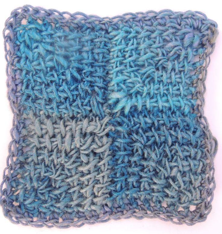 Free Tunisian Crochet Patterns : Free Pattern: Tunisian Miter Squared Tunisian Crochet Pinterest