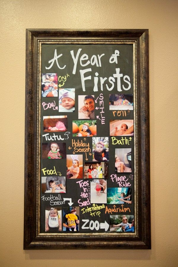 super cute crafty idea for baby's 1st year