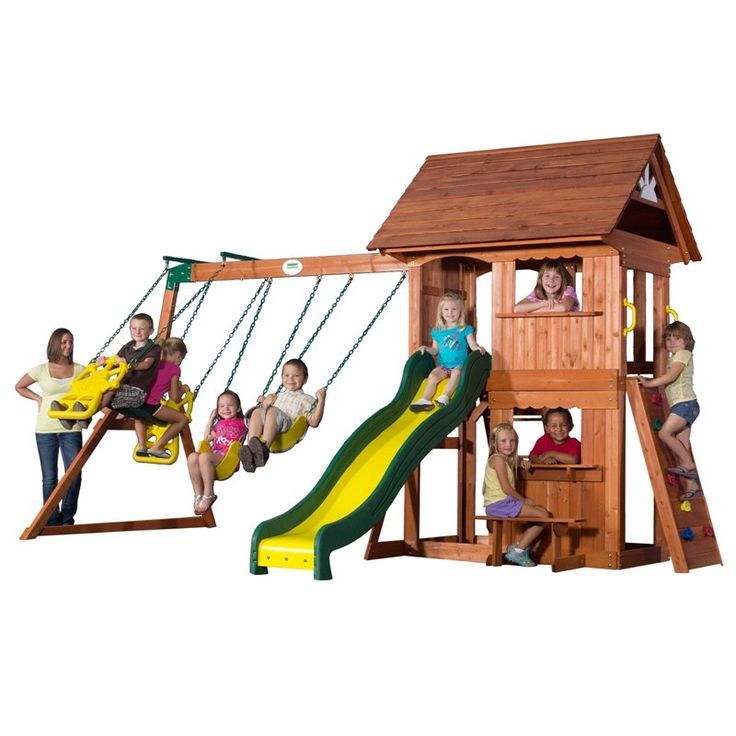 have to have it backyard discovery alpine wood swing set 849