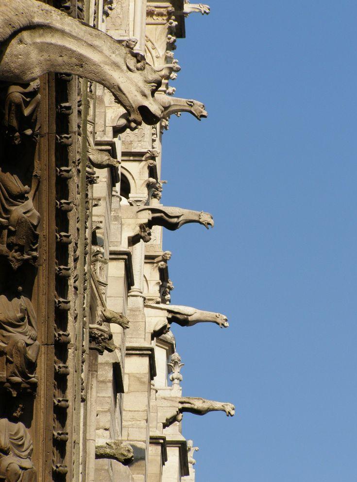gargoyles of notre dame de paris gothic architecture