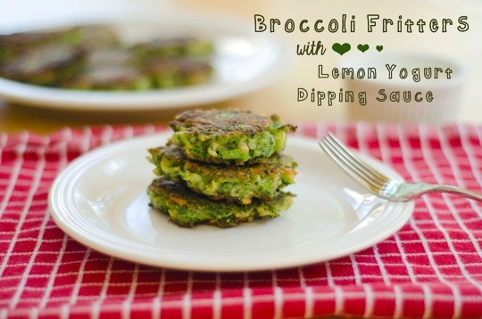 Broccoli Fritters With Lemon Yogurt Dipping Sauce Ingredients Broccoli ...