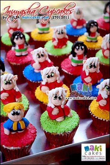 Inuyasha Cupcakes - Maki Cakes