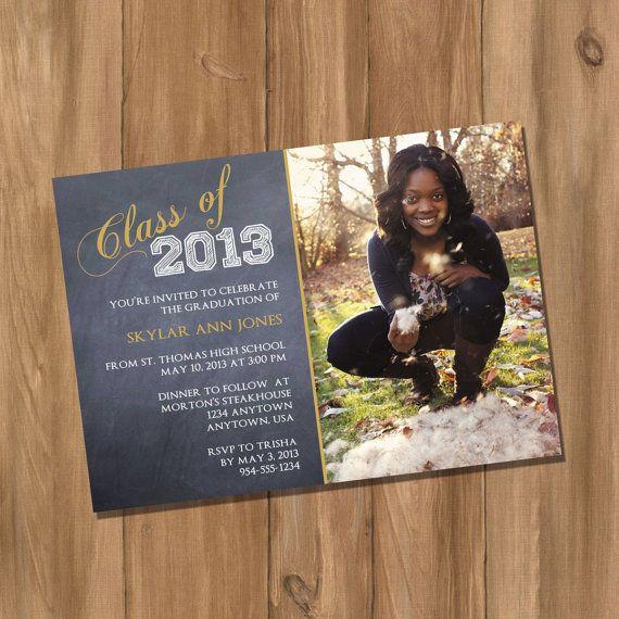 Graduation Invitation Announcement With Photo Digital