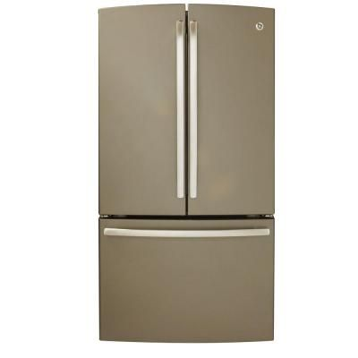 GE Refrigerator 26.3 cu. ft. French Door Refrigerator in Slate grey G ...