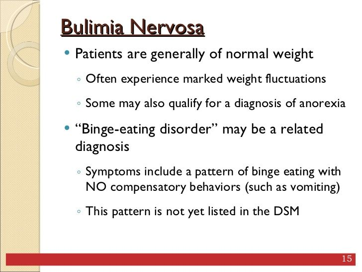 how does bulimia effect a persons What is bulimia bulimia nervosa is a serious eating disorder characterized by frequent episodes of binge eating followed by extreme efforts to avoid gaining weight the most dangerous side effect of bulimia is dehydration due to purging vomiting, laxatives.