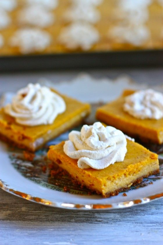 pumpkin cheesecake squares.... | Autumn | Pinterest