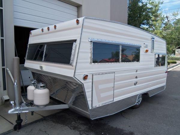 1969 aristocrat lo liner vintage camper trailers for sale for Rv bathroom wallpaper