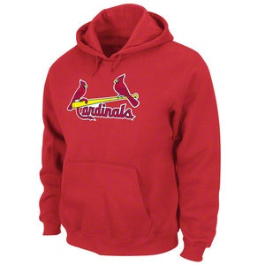MLB - St. Louis Cardinals Red Tek Patch Hooded Sweatshirt