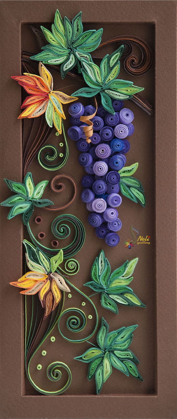 Grapes neli quilling art grapes pinterest Wall art paper designs