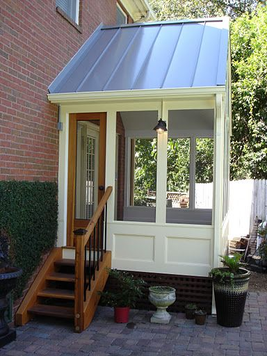 Side View Of Custom Screen Door Porches Verandas