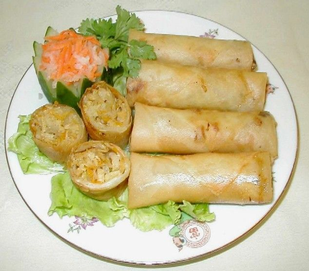 how to make cambodian vegetarian spring roll kingdom of cambodian