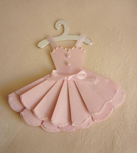Платье на открытку