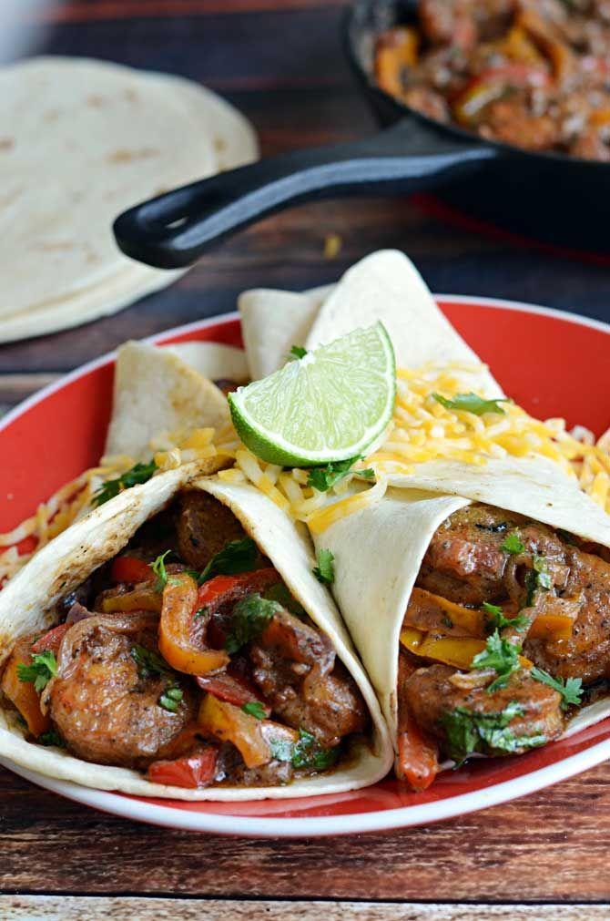 Saucy Cajun Shrimp Fajitas. These super flavorful fajitas are cooked ...