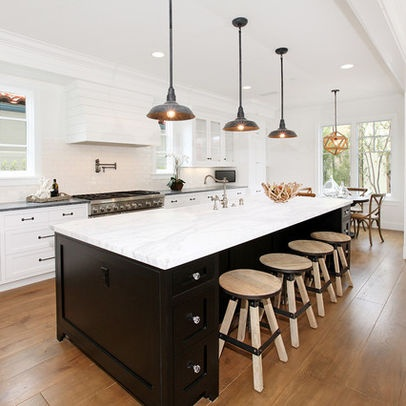 Long Kitchen Island Design Kitchen Ideas Pinterest