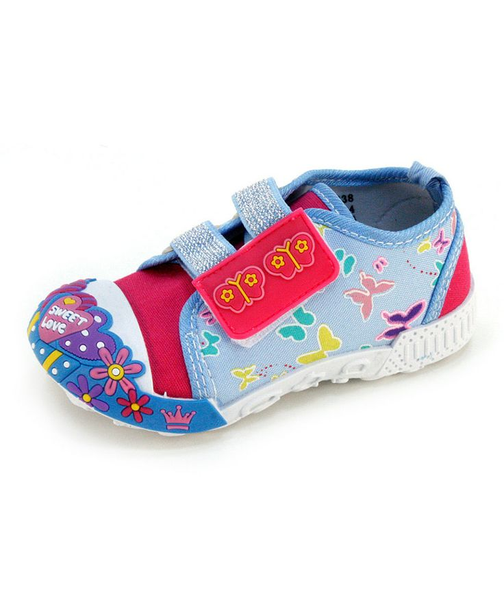 This Frisky Shoes Blue Double-Strap Sneaker by Frisky Shoes is perfect
