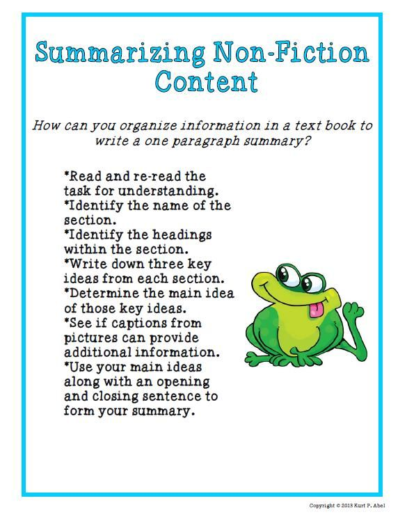 -Graphic-Organizer-Summarizing-Non-Fiction-Content-535770 Summarizing ...
