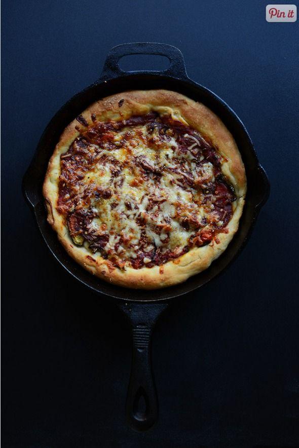deep dish veggie pizza. | Recipes | Pinterest