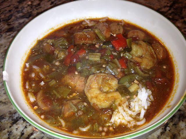 Shrimp and Okra Gumbo   I'm a full blooded Louisiana girl!   Pinterest