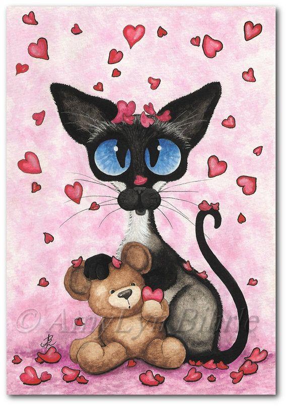 valentine cat graphics