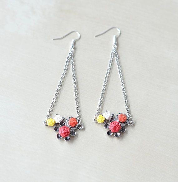 Quilling earrings rose video leak