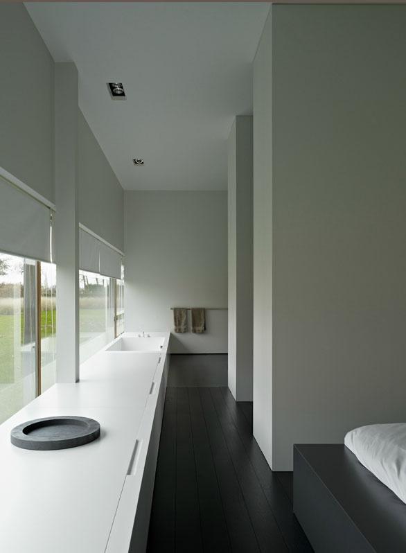 Bedroom Walk In Closet Bathroom Combination Inside House M Poperinge By Minus Bathroom