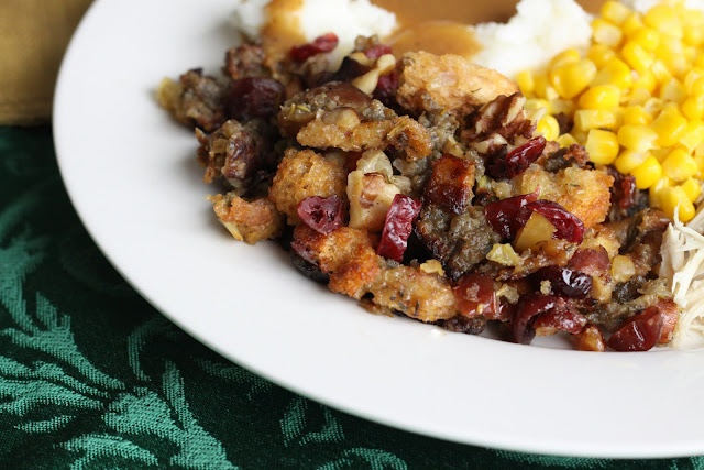 Cranberry-Sausage Stuffing | eat, drink, and be merry | Pinterest