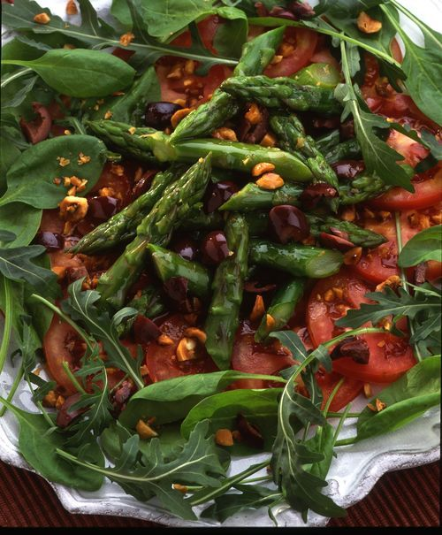 Asparagus Salad (i will make without the hazelnut oil)
