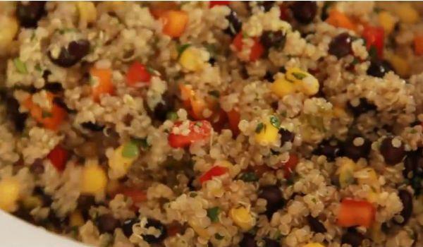 Recipe: Vegan Quinoa and Black Bean Salad Black beans and rice have ...