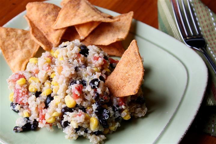 SOUTHWESTERN QUINOA AND BLACK BEAN SALAD. - Recipe courtesy of ...