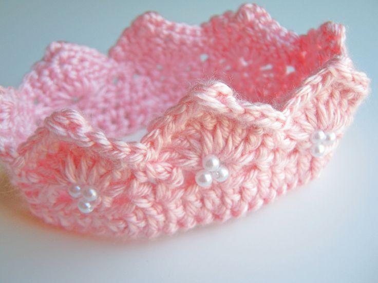 Crochet Baby Crown Pattern : Crochet Baby Princess Crown / Tiara Crochet ...