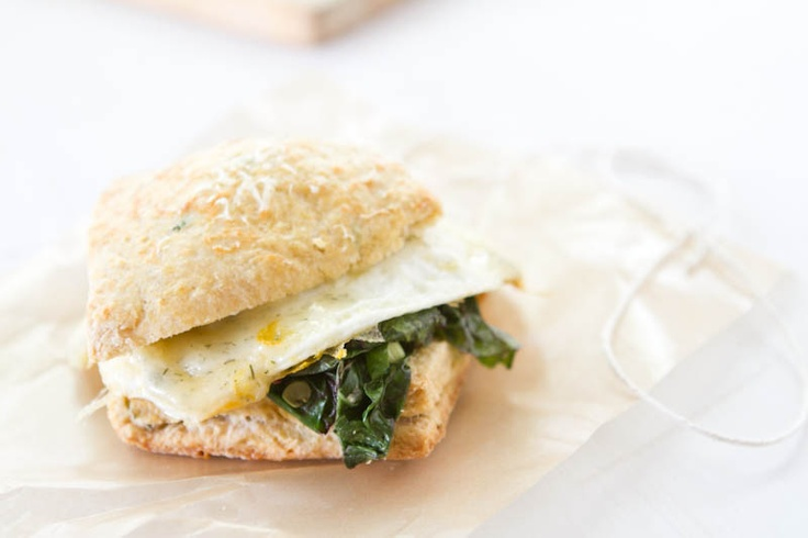 Herb biscuit, Swiss Chard & Egg: A step up from the average breakfast ...