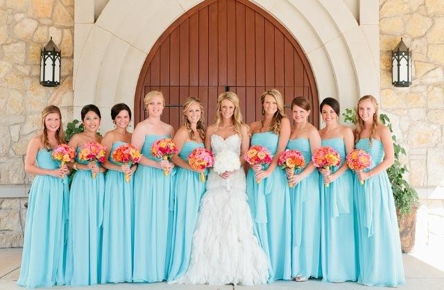 Wear Blue Bridesmaid Dresses for Winter Weddings! - Evening ...