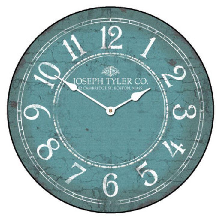 Large Wall Aqua White Clock 12 48 Whisper Quiet Non