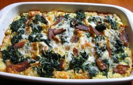 Bacon Spinach Strata | Easter | Pinterest