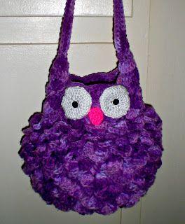 Free Crochet Owl Backpack Pattern : Fat Owl Bag free crochet pattern owls Pinterest