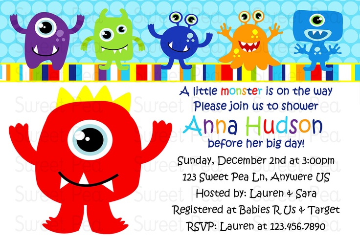 Monster Baby Shower Invitations was very inspiring ideas you may choose for invitation ideas