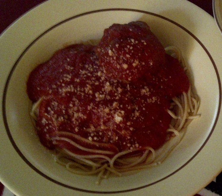Spaghetti and Turkey Meatballs | pasta for the people | Pinterest