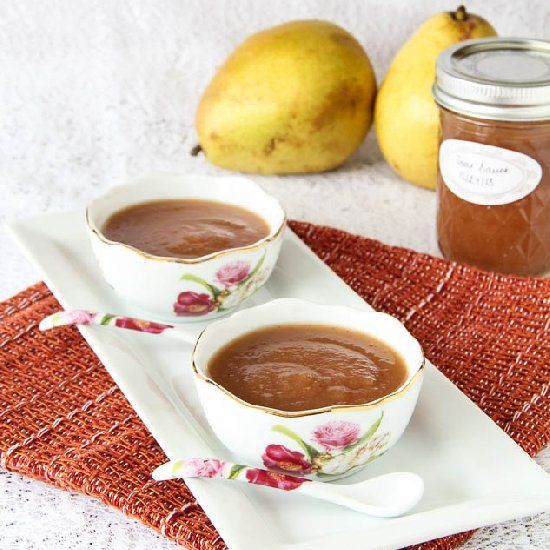 cool Homemade Pear Sauce | Low Cholesterol Diet | Pinterest