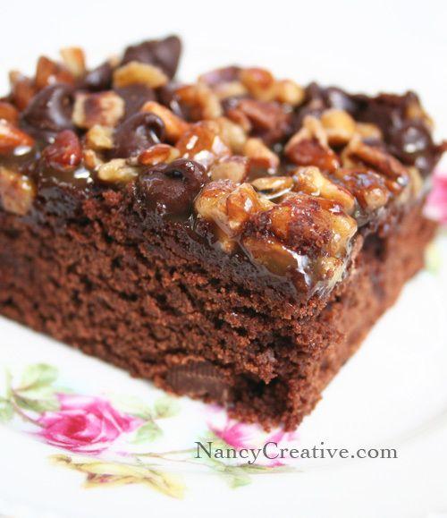 Decadent Turtle Brownies | My Dessert Recipes | Pinterest