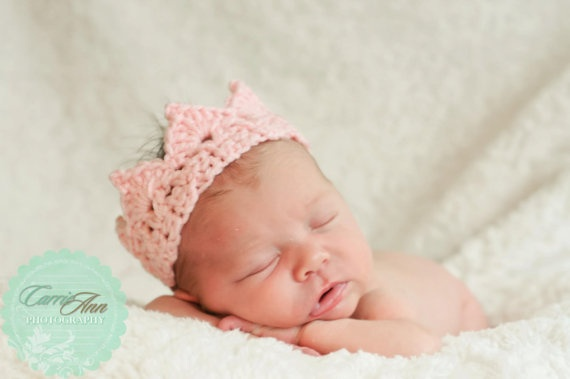 Knitted Baby Crown Pattern : Knit Crown (Crochet - can order pattern) Stitches ...
