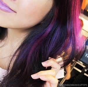 Purple lowlights | Beauty Shizz | Pinterest
