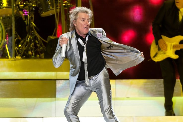 Rod Stewart boogies onstage during a performance on Dec. 9 in New York