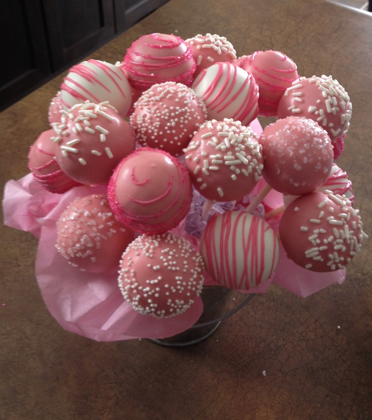 Pictures Of Cake Pops For Baby Shower : Baby Shower Cakes: Pink Baby Shower Cake Recipes