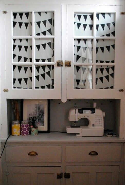 Cute for a small sewing room of course change the wallpaper though