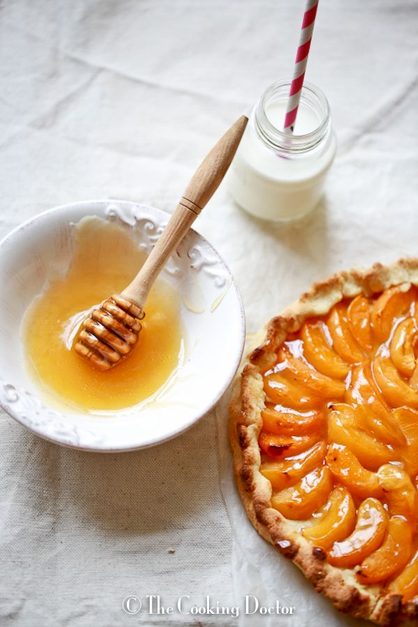 ... ..rustic apricot galette with burnt honey butter..and 2nd birthday