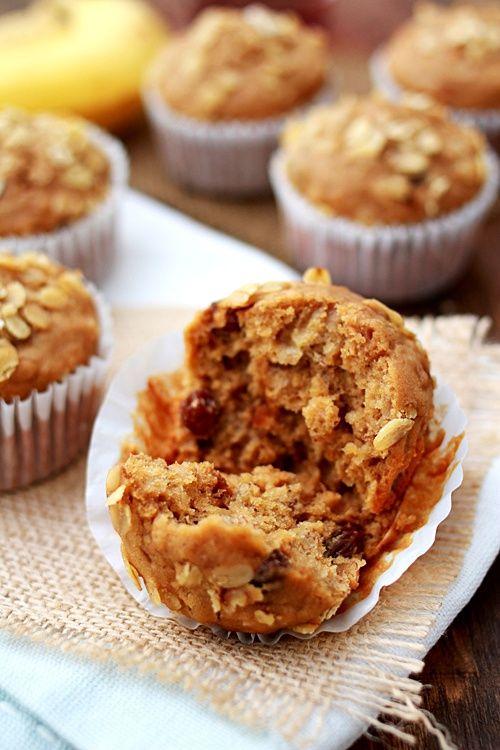 Banana Oatmeal Raisin Muffins | Recipes | Pinterest